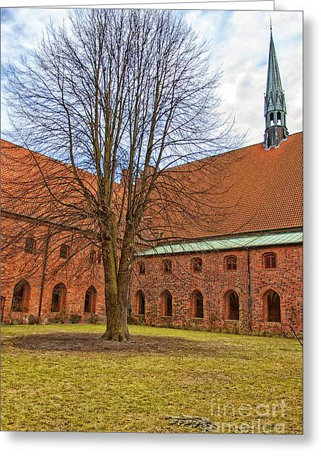Kloster Greeting Cards - Vor Frue kloster 01 Greeting Card by Antony McAulay