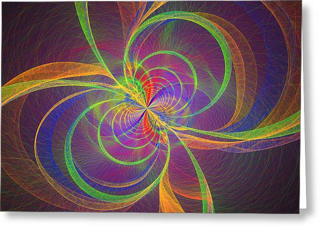 Abstract Digital Art Greeting Cards - Vortex Abstract Digital Fractal Flame Art Greeting Card by Keith Webber Jr