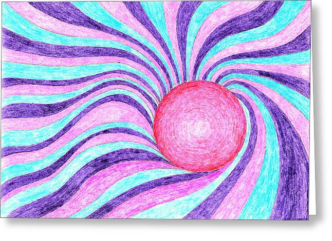 Vortex Greeting Card by Eric Forster