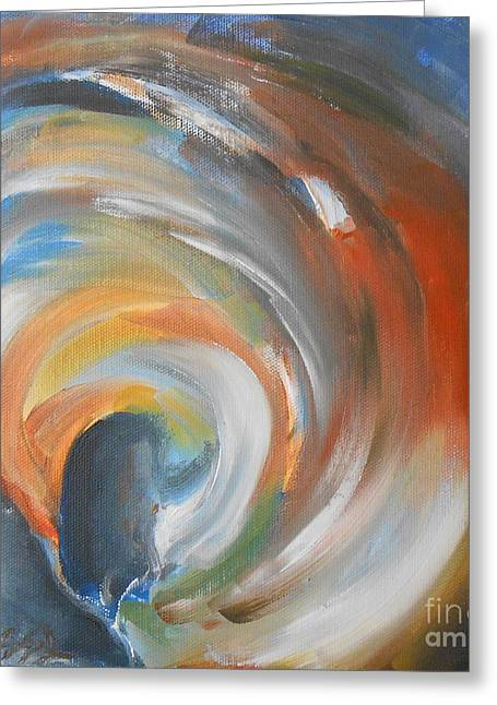 Jane See Art Greeting Cards - Vortex Greeting Card by Jane  See