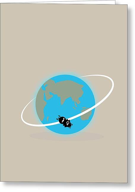 Vostok 6 In Orbit Greeting Card by Ramon Andrade 3dciencia