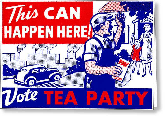 Voted Images Greeting Cards - Vote Tea Party Greeting Card by Historic Image