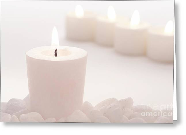 Muted Greeting Cards - Votive Candle Greeting Card by Olivier Le Queinec