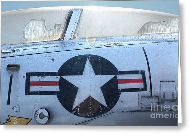 Fame Greeting Cards - Vought Crusader 8-U1 Greeting Card by Gregory Dyer