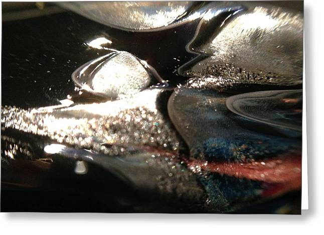 Modern Art Glass Art Greeting Cards - Voyage Greeting Card by Gaby Tench