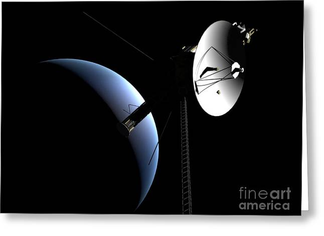 Interstellar Travel Greeting Cards - Voyager 1 At Neptune Greeting Card by Rhys Taylor