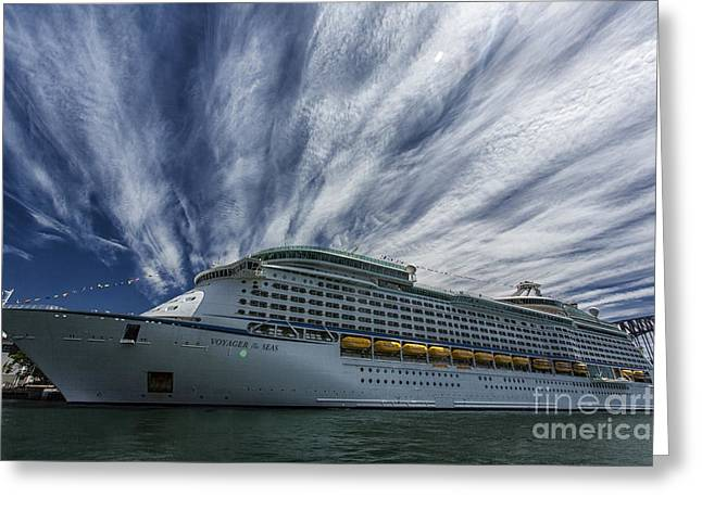Voyager Of The Seas Greeting Card by Avalon Fine Art Photography