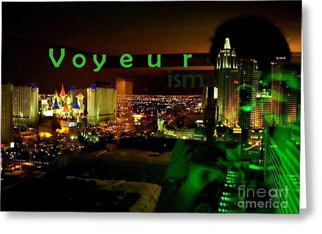 Voyeurism Greeting Card by Corey Garcia