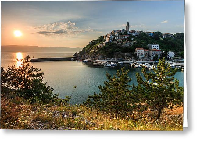 Croatia Greeting Cards - Vrbnik Greeting Card by Davorin Mance