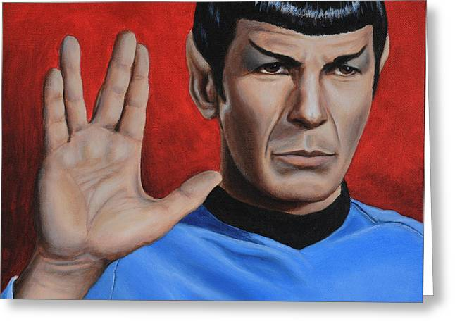 Vulcan Farewell Greeting Card by Kim Lockman