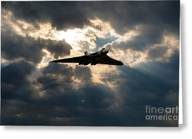 Bos Bos Digital Art Greeting Cards - Vulcan Halo Greeting Card by J Biggadike