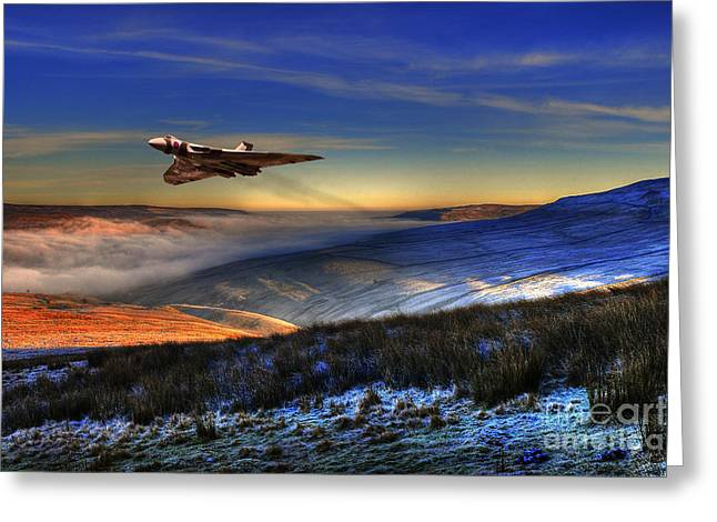 Inversion Digital Art Greeting Cards - Vulcan In The Valley Greeting Card by J Biggadike