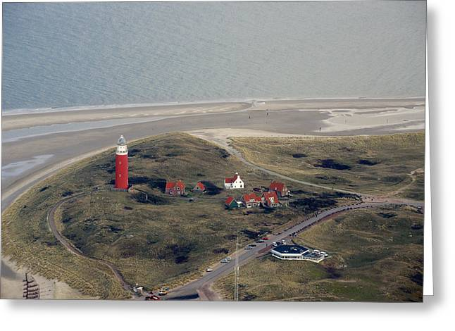Dutch Lighthouse Greeting Cards - Vuurtoren Texel, De Cocksdorp Greeting Card by Bram van de Biezen