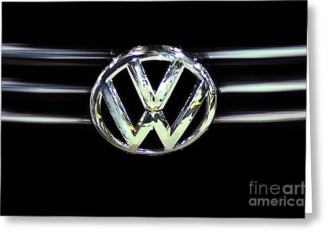 Deutschland Greeting Cards - VW Abstract Greeting Card by Tom Gari Gallery-Three-Photography