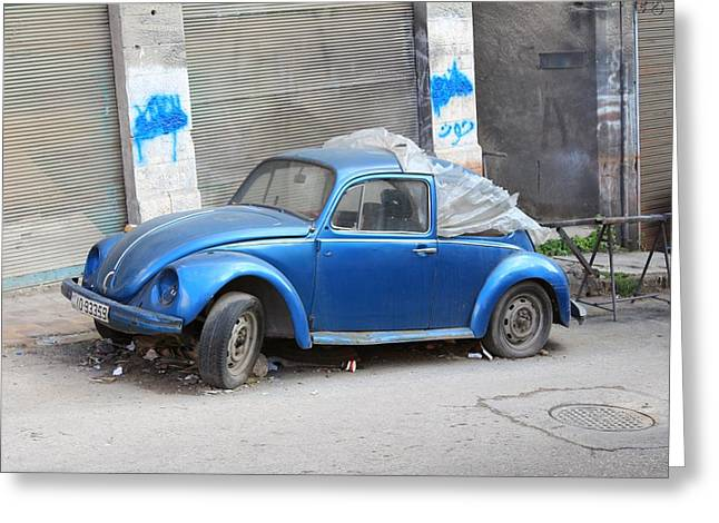 Gcc Greeting Cards - VW Beetle Greeting Card by Ash Sharesomephotos