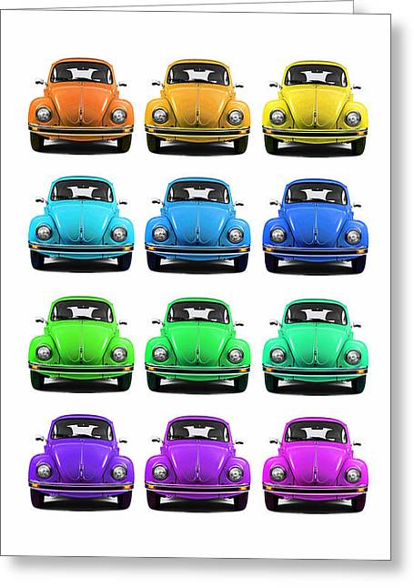 Vw Beetle Greeting Cards - VW Beetle Phone Case Greeting Card by Mark Rogan
