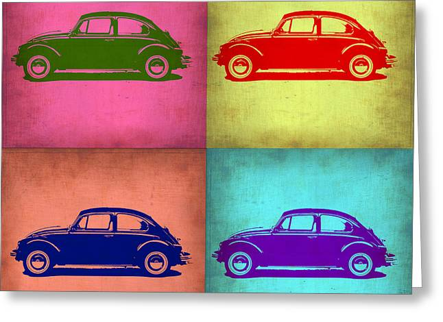 Beetle Greeting Cards - VW Beetle Pop Art 1 Greeting Card by Naxart Studio