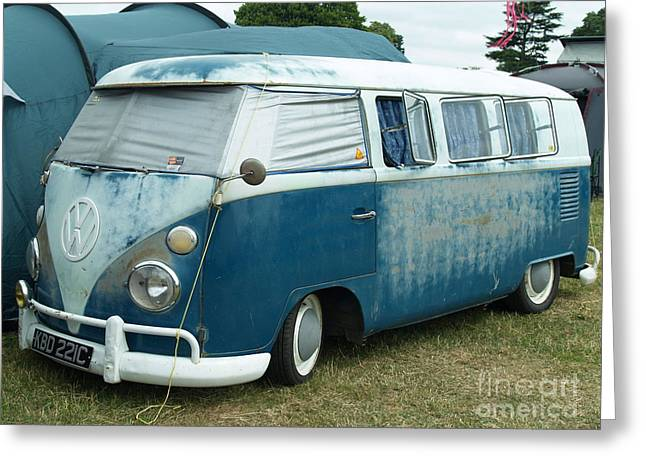 Collects Pyrography Greeting Cards - VW Camper  Greeting Card by Alan Wynne