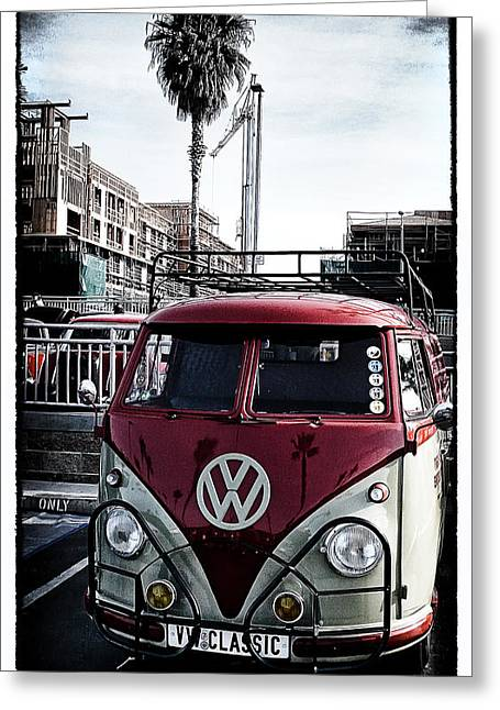 Custom Grill Greeting Cards - VW Classic Greeting Card by Ron Regalado