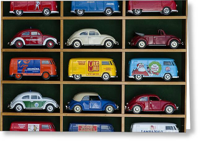 VW Collectors Toys Greeting Card by Tim Gainey