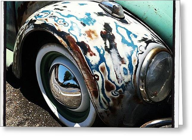 Speedometer Greeting Cards - VW Fender Art Greeting Card by Gwyn Newcombe