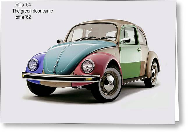 VW Parts Greeting Card by Mark Rogan