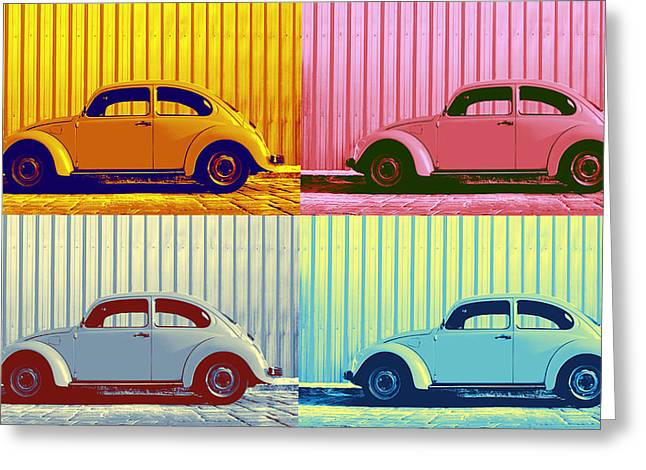 Metallic Sheets Digital Greeting Cards - VW Pop Autumn Greeting Card by Laura  Fasulo