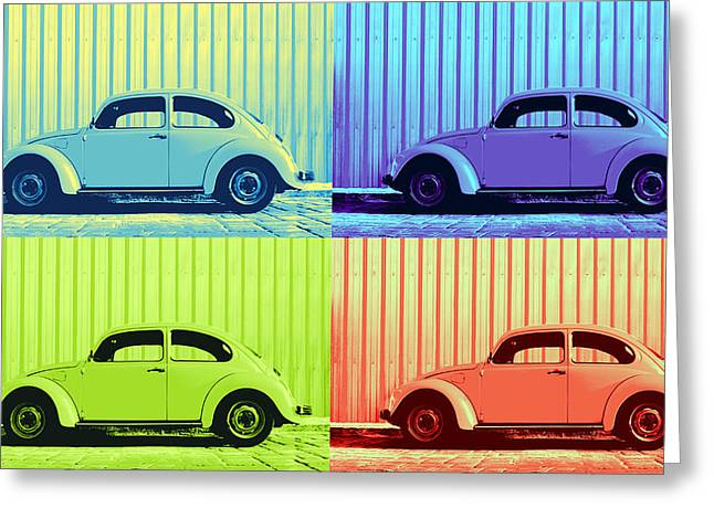 Metallic Sheets Digital Greeting Cards - VW Pop Summer Greeting Card by Laura  Fasulo