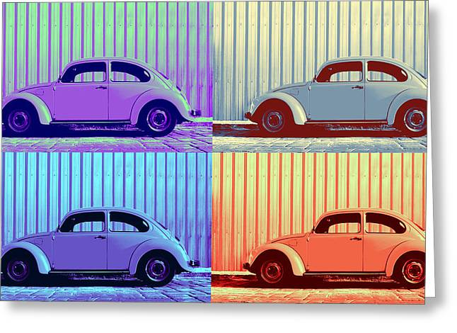 Vw Pop Winter Greeting Card by Laura Fasulo