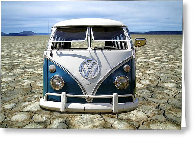 Rat Fink Greeting Cards - VW Safari Flats Greeting Card by Steve McKinzie