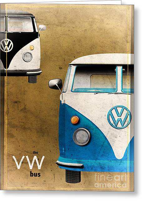 Vdub Greeting Cards - VW the Bus Greeting Card by Tim Gainey