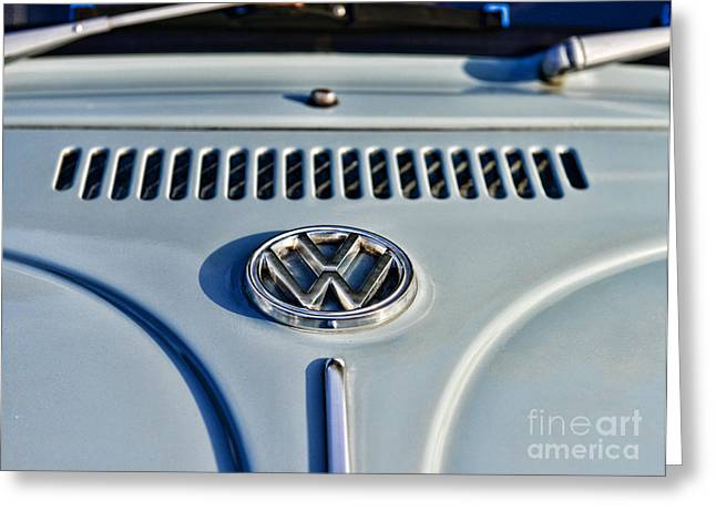 Then Greeting Cards - VW Volkswagen Bug Beetle Greeting Card by Paul Ward