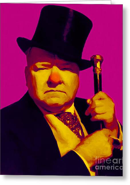 Comedian Digital Greeting Cards - W C Fields 20130217 Greeting Card by Wingsdomain Art and Photography