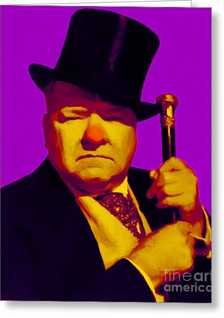 Comedian Digital Greeting Cards - W C Fields 20130217m30 Greeting Card by Wingsdomain Art and Photography