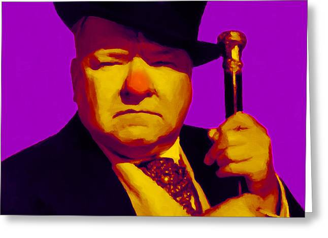 W C Fields 20130217m30 Greeting Card by Wingsdomain Art and Photography