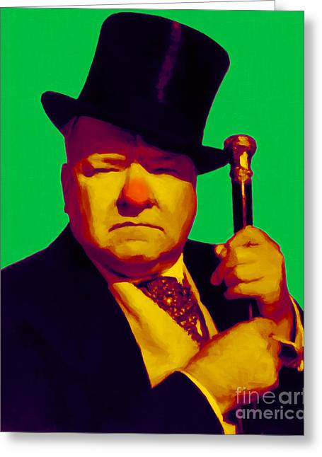 Comedian Greeting Cards - W C Fields 20130217p180 Greeting Card by Wingsdomain Art and Photography