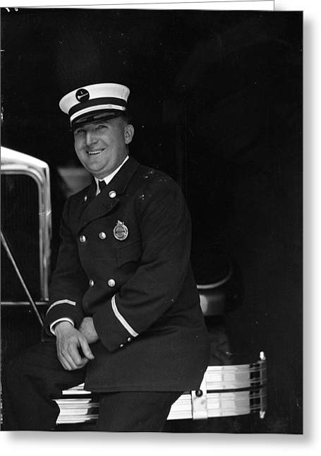 Usa Photographs Greeting Cards - W. Dill Century of Progress Fire Department Greeting Card by Retro images archive