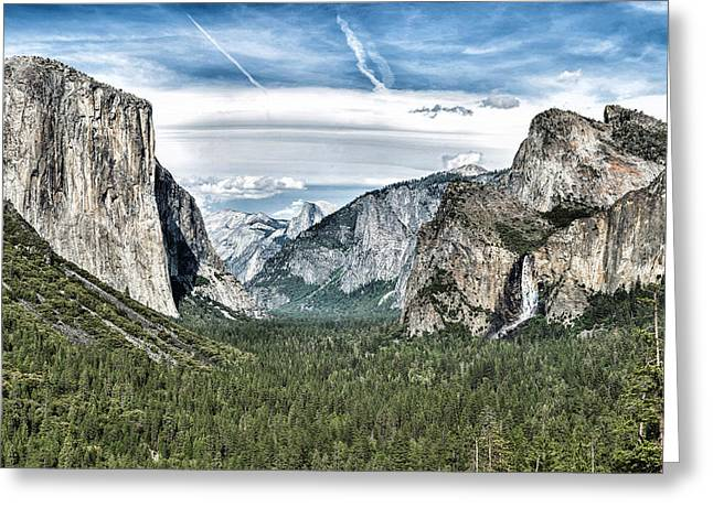 Tunnel View Greeting Cards - Tunnel View - Yosemite Valley Greeting Card by Nomad Art And  Design