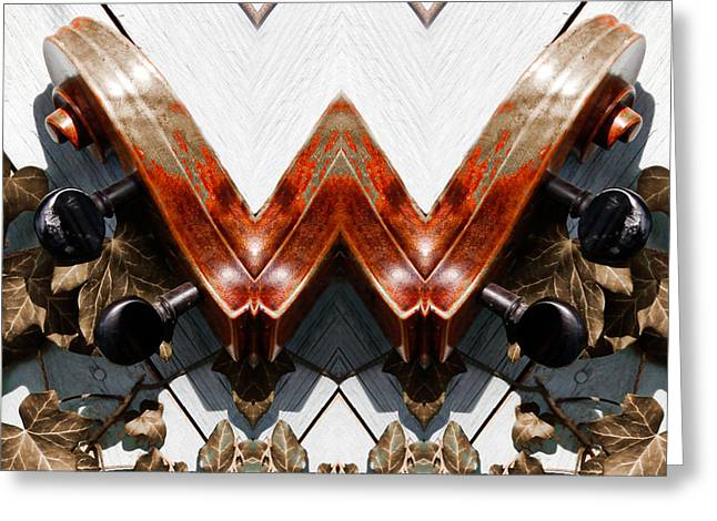Geometric Design Greeting Cards - W  Greeting Card by Steven  Digman