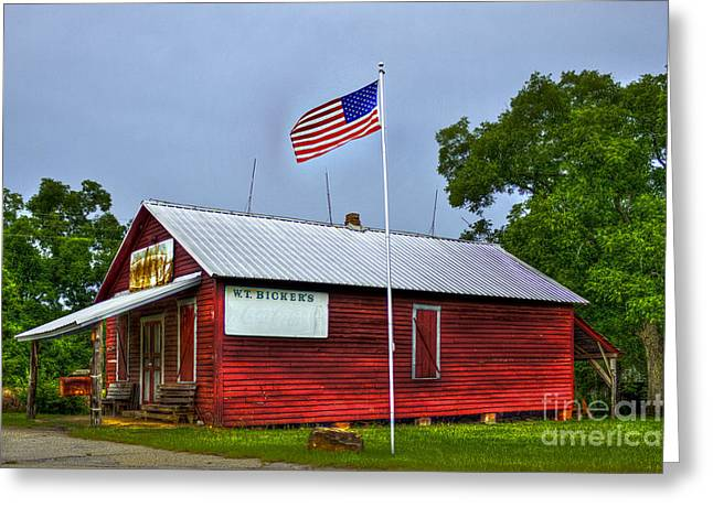Historic Country Store Photographs Greeting Cards - W T Bickets Store in Liberty Greeting Card by Reid Callaway