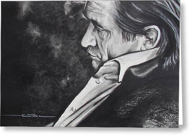 Actors Pastels Greeting Cards - W W J D Greeting Card by Eric Dee