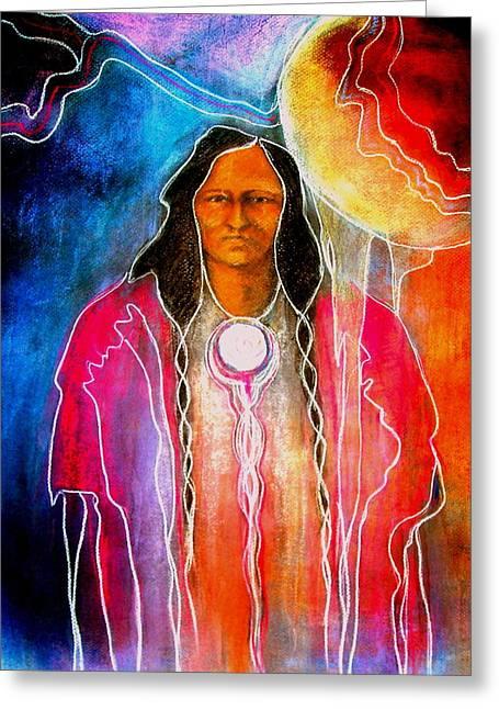 Native American Theme Greeting Cards - Wa -ko-da  Greeting Card by Johanna Elik