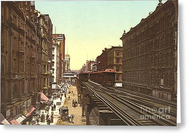 Wabash Avenue Chicago 1900 Greeting Card by Padre Art
