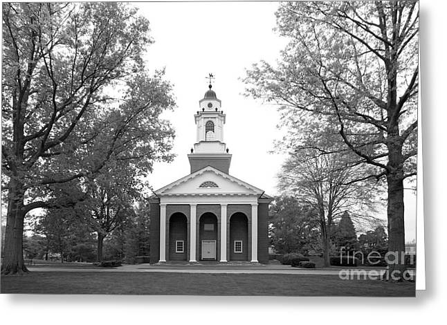 Liberal Arts Greeting Cards - Wabash College Chapel Greeting Card by University Icons