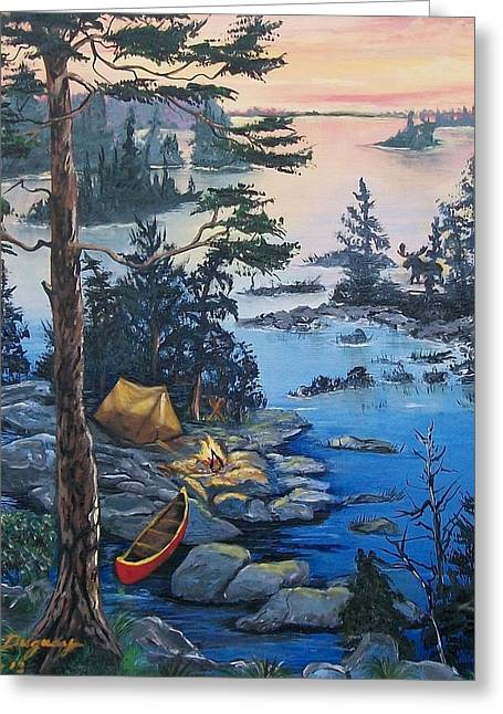 Canoe Greeting Cards - Wabigoon Lake Memories Greeting Card by Sharon Duguay