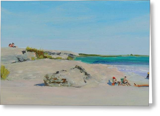 Nature Scene Paintings Greeting Cards - Sachuest Beach Second Beach Newport RI  Greeting Card by Patty Kay Hall
