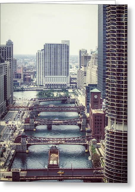 Wacker Drive Greeting Cards - Wacker Drive in Chicago Greeting Card by Mountain Dreams