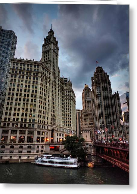 Chicago Flag Greeting Cards - Wacker - Michigan Historic District of Chicago 002 Greeting Card by Lance Vaughn