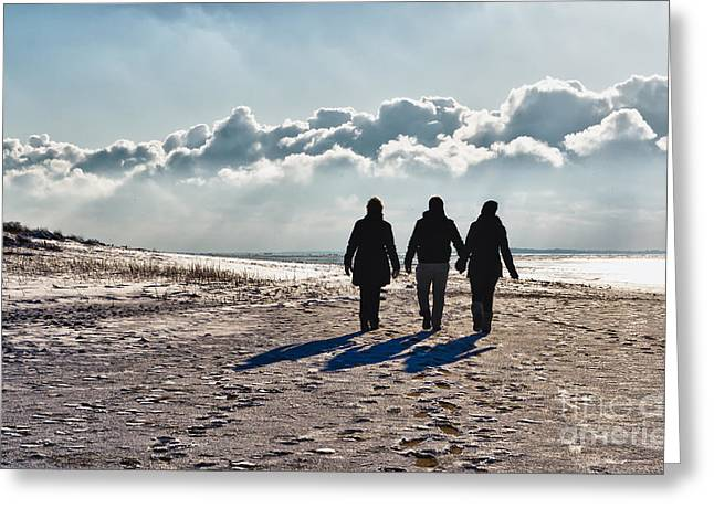 Atlantic Beaches Greeting Cards - Wadden sea in Esbjerg in Denmark Greeting Card by Frank Bach
