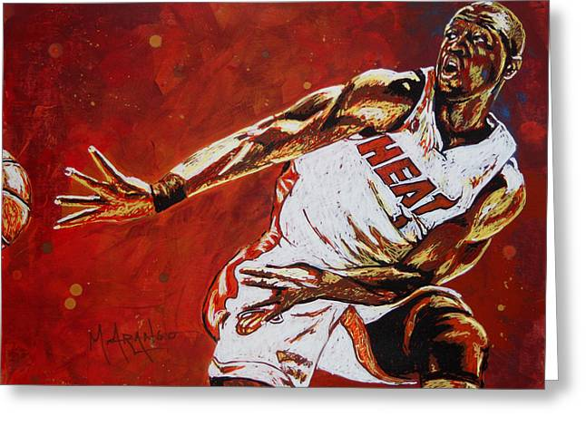 D Wade Greeting Cards - Wade Passes Greeting Card by Maria Arango